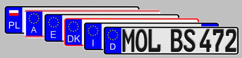 Tablice rejestracyjne samochodowe